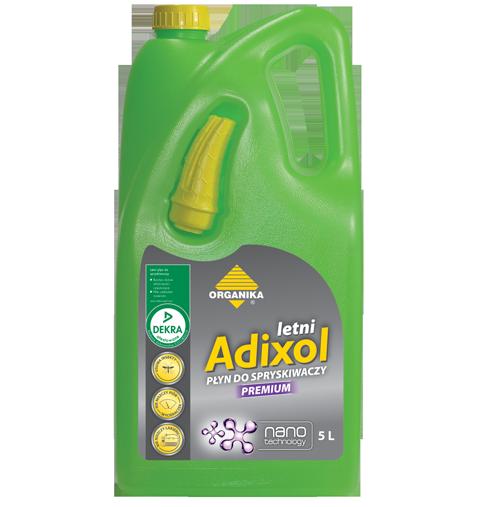 letni płyn do spryskiwaczy adixol posiadający certyfikat dekra